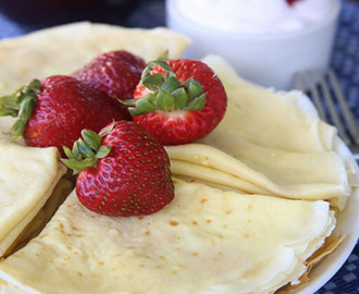 Crepes with Strawberry Whip Cream