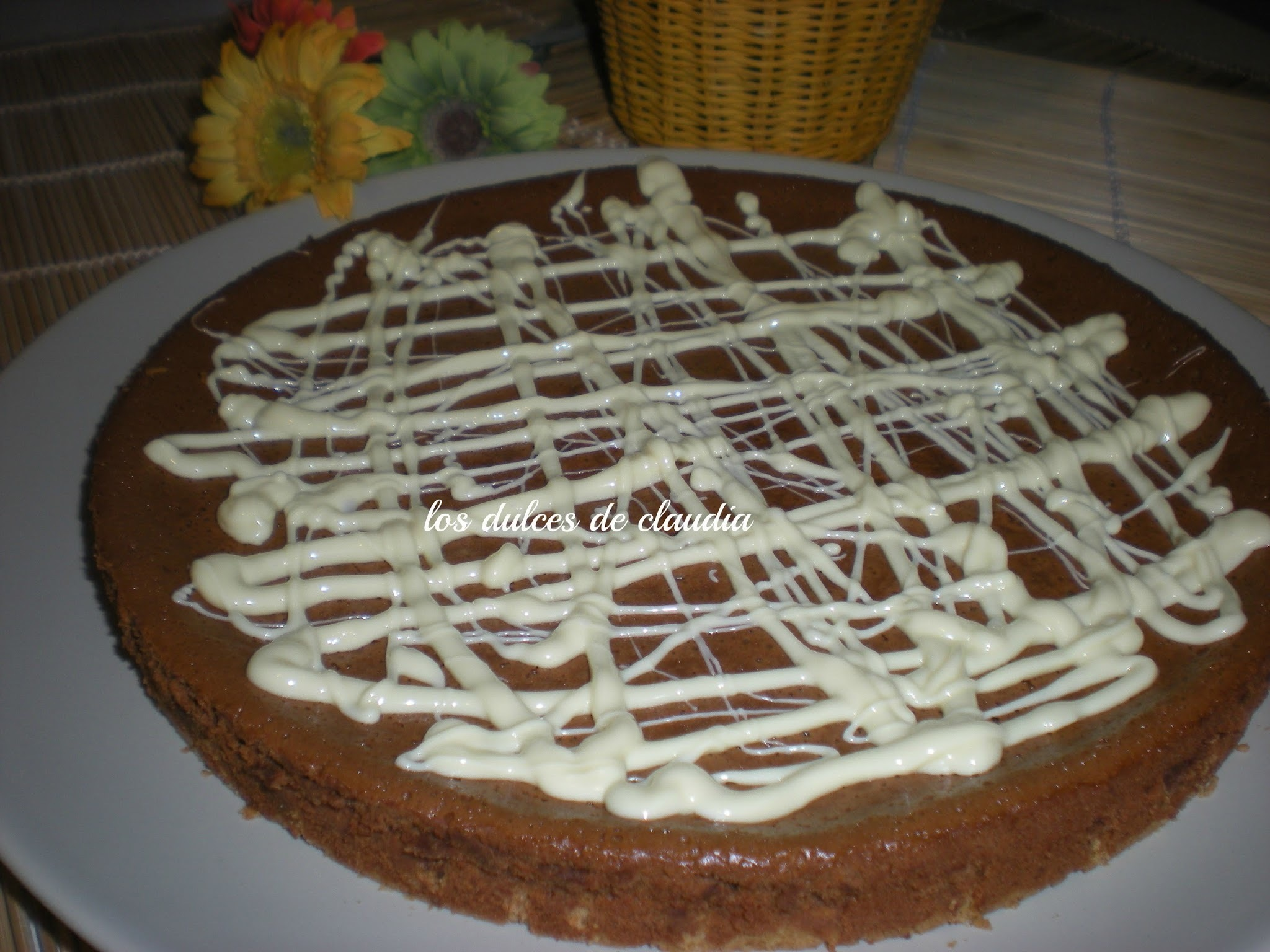 Tarta de queso de chocolate