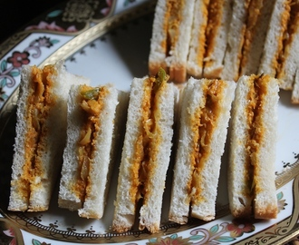 Spicy Veg Mayonnaise Sandwich Recipe - Tea Sandwich Recipes