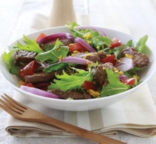 Barbecued beef and orange salad