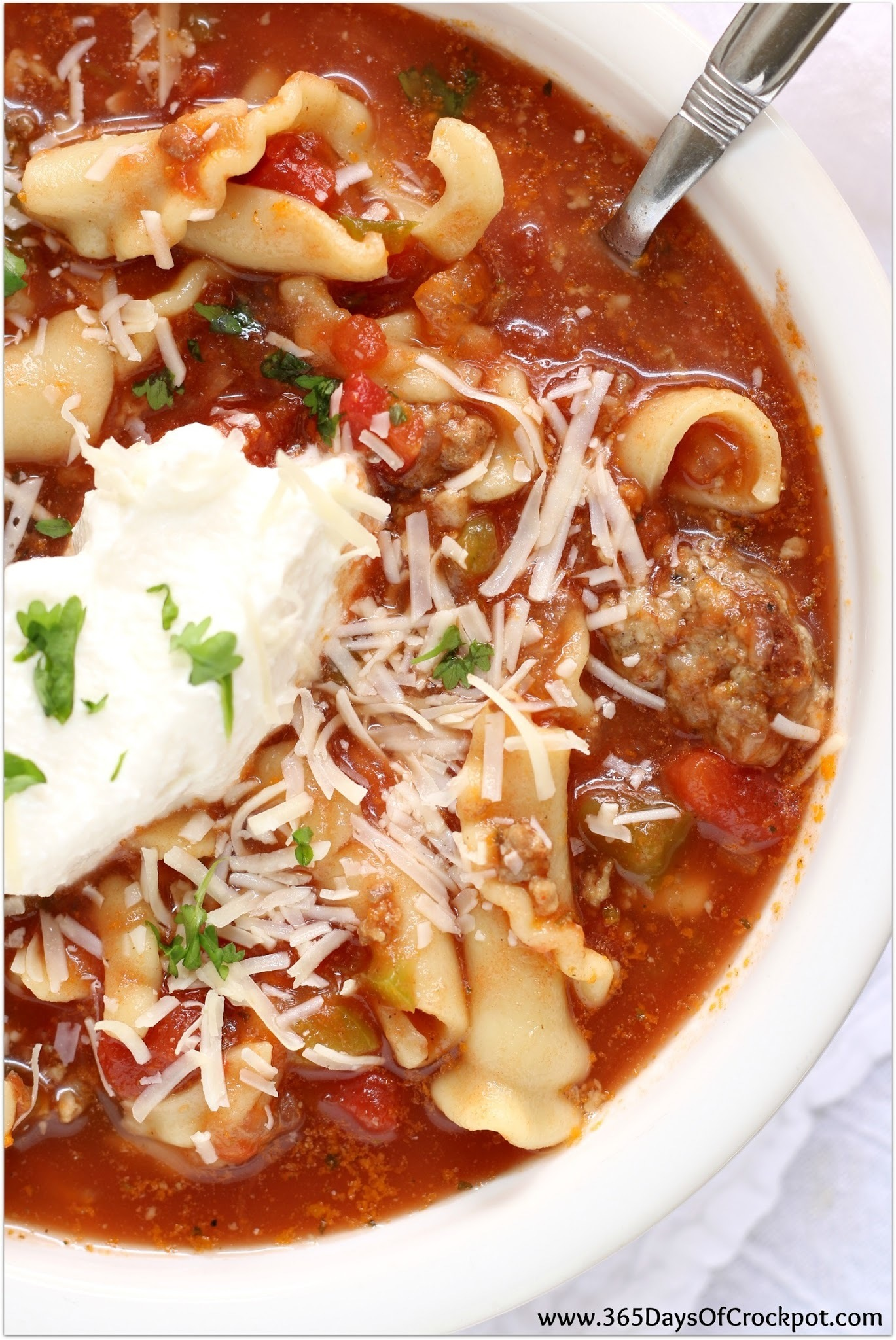Easy Recipe for Slow Cooker (crockpot) Lasagna Soup