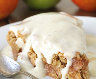 Swedish Apple Pie (gluten-free, vegan, whole grain, dairy-free)