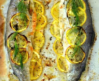 Whole Baked Trout with Herb Salsa - The View from Great Island | Whole fish recipes, Baked whole fish, Baked trout