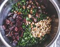Kale Salad with Roasted Beets, Dates and Blood Orange Vinaigrette