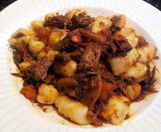 Home made Gnocchi with Spicy Beef Ragout