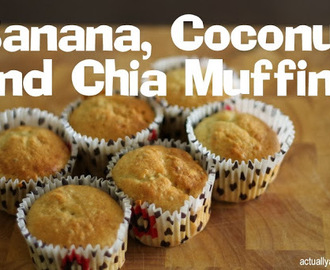 RECIPE: Banana, Coconut and Chia Muffins