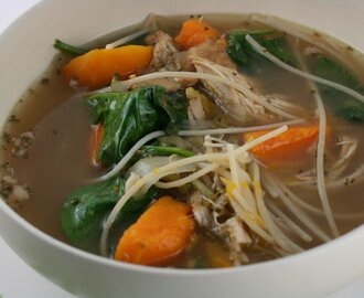 Old Fashioned Chicken Noodle Soup Slow Cooker Recipe