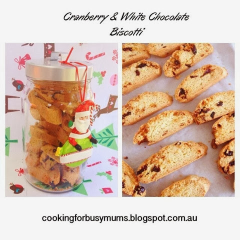 Christmas: Mini Cranberry & White Chocolate Biscotti