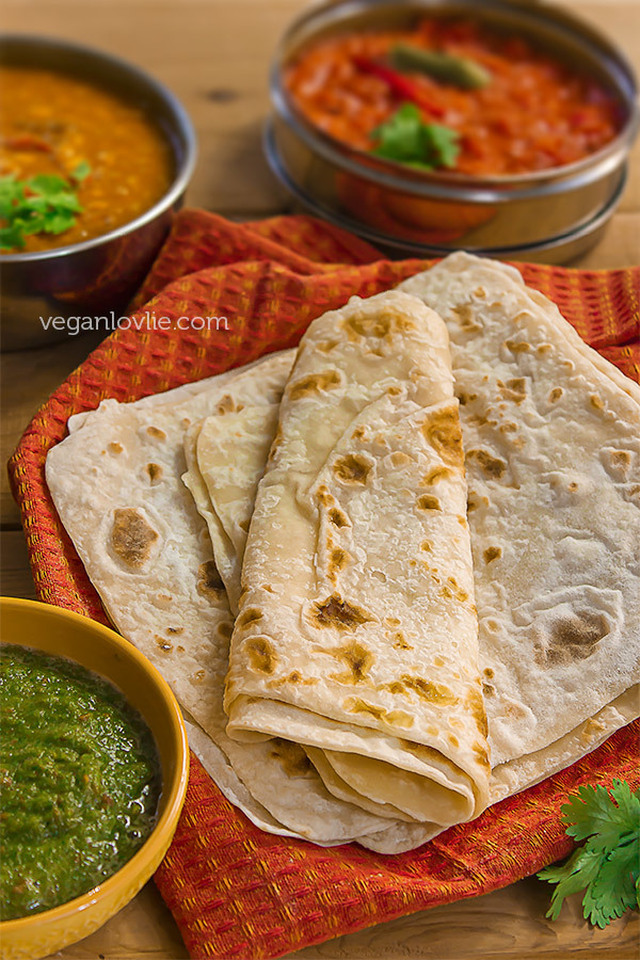 Traditional Mauritian Roti and Fillings — Part 1/3: Roti / Farata or Paratha (oil-free version)