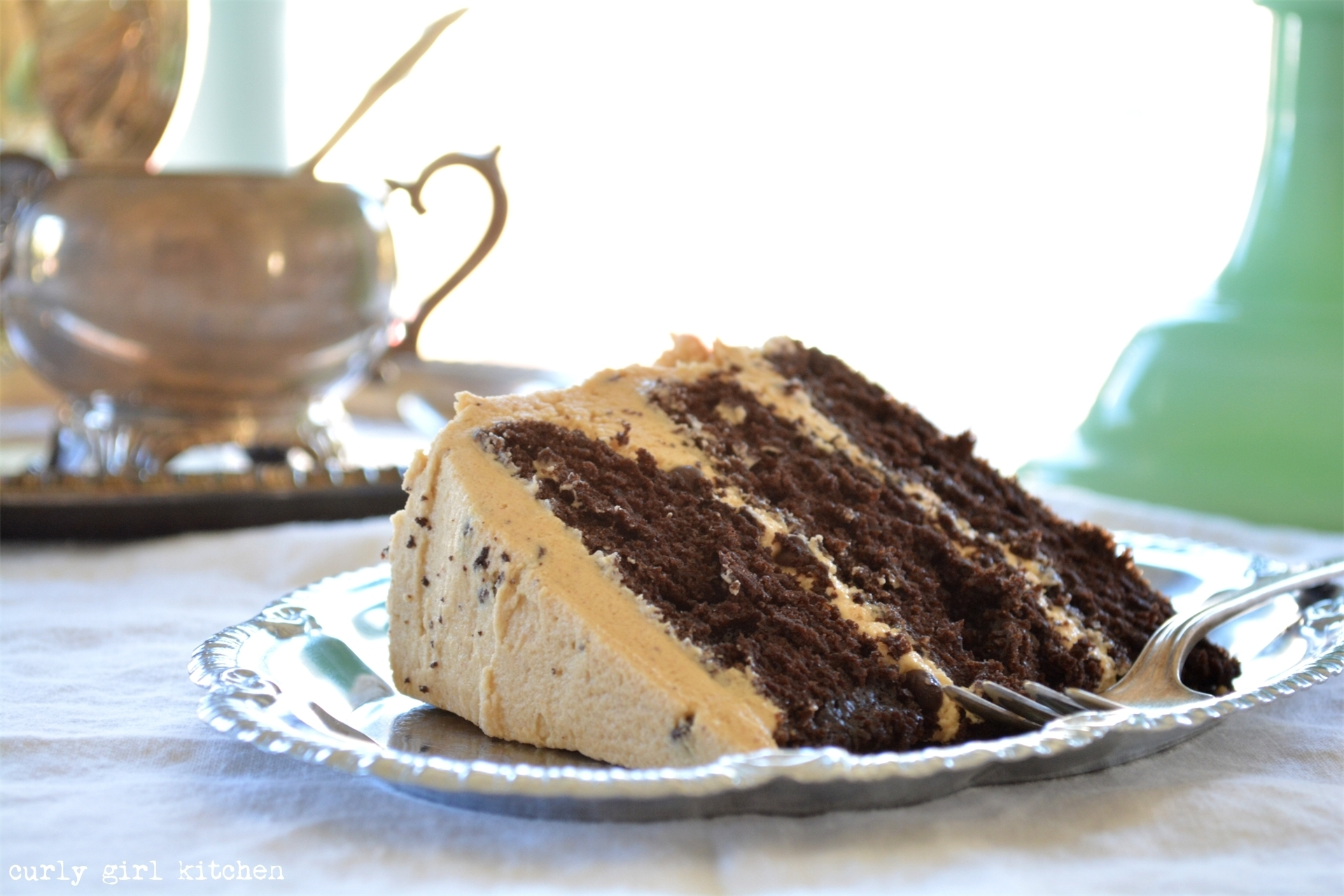 Chocolate Cake with Salted Peanut Butter Chocolate Chip Buttercream