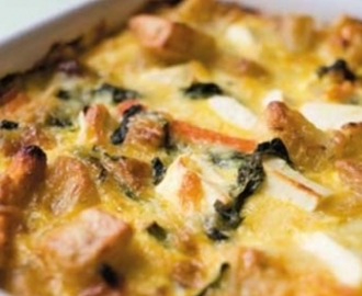 Oven-baked vegetable frittata