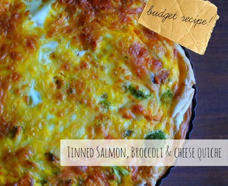 Quick and Easy Tinned Salmon, Broccoli & Cheese Quiche