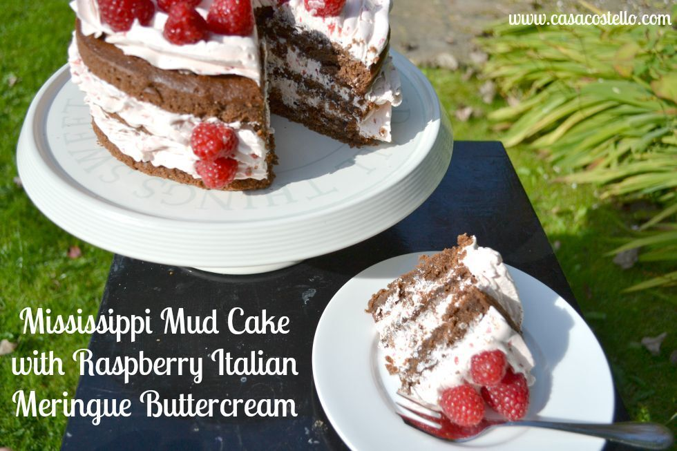 Mississippi Mud Cake with Raspberry Italian Meringue Buttercream – Bake of the Week