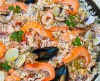 Seafood risotto to die for!