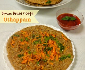 Instant Brown Bread & Oats Uthappam