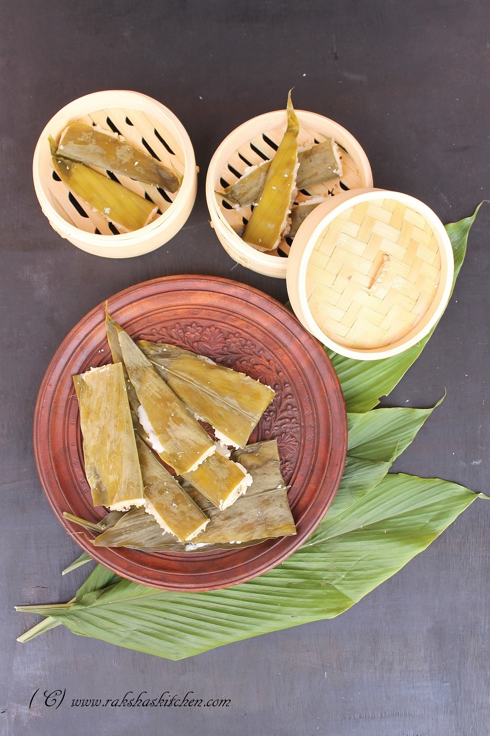 Patoli Recipe | Pattoleo Recipe | Coconut, Jaggery And Rice Dumplings Wrapped And Steamed In Turmeric Leaves