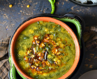 Dhal Spinach /Palak Dhal /Spinach Gravy with Lentils