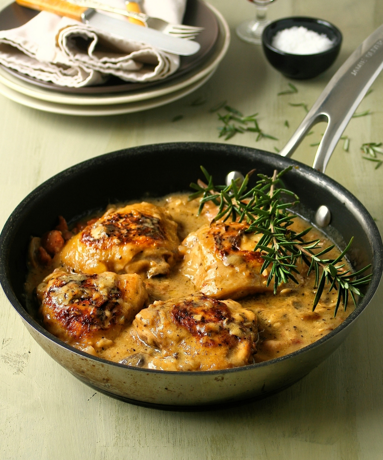 Creamy Chicken with Lemon and Rosemary