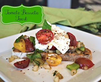 Tomato Burrata Toast and a #WholeFoods #Giveaway