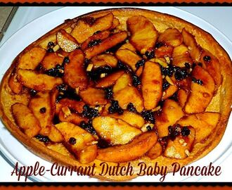 Apple-Currant Dutch Baby Pancake for Fall Foods #SundaySupper #apple #breakfastfordinner
