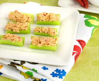 National Cashew Day + Celery Bites with Savoury Cashew Cheese