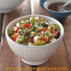NUT AND VEG RICE SALAD