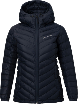 Peak Performance W's Frost Down Hooded Jacket Salute Blue 2018 XS Vandringsjackor
