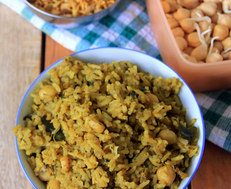 Sprouted Chana Pulao recipe - Sprouted Chickpeas Pulao - Sprouted Kondaikadalai rice -  Healthy one pot meal