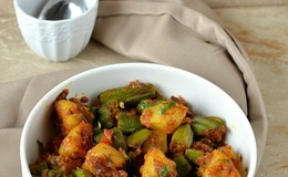Potato okra curry