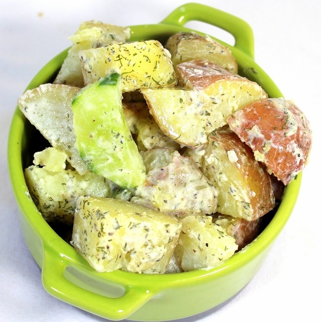 Creamy Dill Cucumber and Potato Salad - 52 Church PotLuck Side Dishes