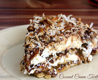 Coconut Cream Turtle Pie
