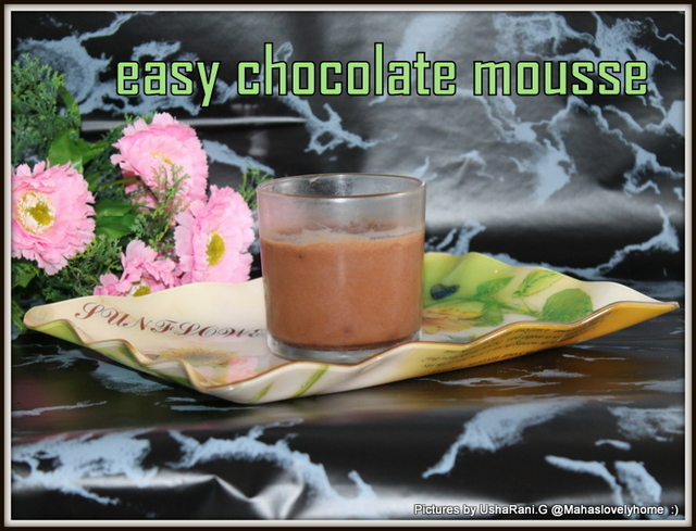Quick and easy chocolate mousse | Simple chocolate mousse with 5 ingredients | chocolate desserts | simple desserts in 10 minutes | kids favorite desserts