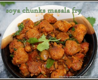 Soya chunks pepper fry | Meal maker fry | Soya nuggets fry | soya granules easy recipes | Quick and easy veg side dish recipes for rice n rotis