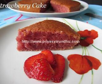 Strawberry Cake – Eggless & Butterless Strawberry Cake