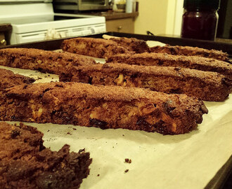 Chocolate, Caramel and Cranberry Biscotti #SundaySupper