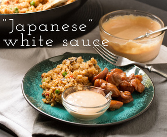 Fried Rice and Japanese White Sauce