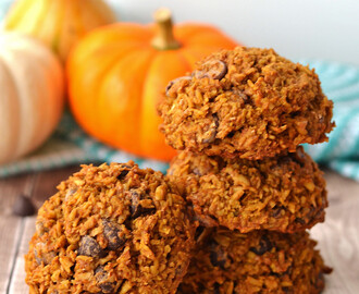 Pumpkin Chocolate Chip Oatmeal Cookies – Galletas de Calabaza con Chispas de Chocolate y Avena