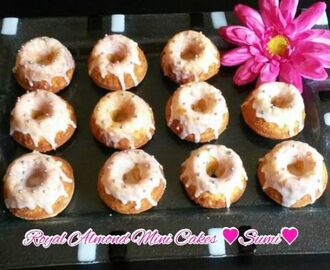 Royal almond mini cakes