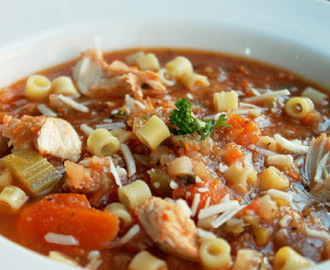 Spicy Italian Chicken Noodle Soup