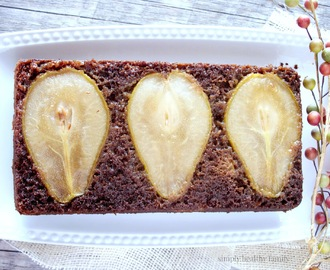 Upside Down Spiced Pear Cake  #SundaySupper