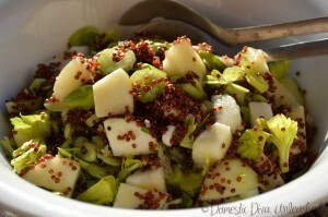 Pear and Red Quinoa Salad with Maple Dressing