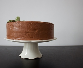 Vegan Sweet Potato and Apple Layer Cake with Chocolate Cream Cheese Frosting
