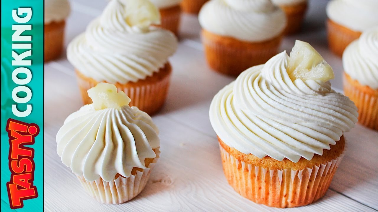 PINEAPPLE CUPCAKES RECIPE With Pineapple Curd and Chocolate Cream Frosting ♥ Tasty Cooking