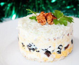 🎄 6 Layer Chicken Salad Recipe ♥ New Year 2017 Dish Idea ♥ Russian Salad ♥ Tasty Cooking