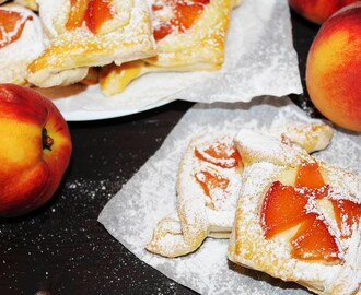 PUFF PASTRY Peaches Dessert With Cream Cheese ♥ Tasty Cooking