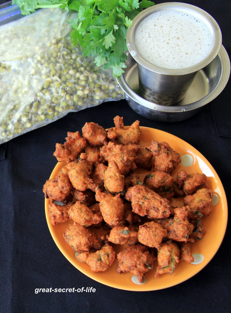 Sprouts pakkora - Sprouts pakora - Sprouts Pakoda - Simple snack recipes - Kids friendly recipe