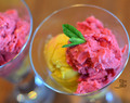 Easy and healthy fruity frozen yoghurt