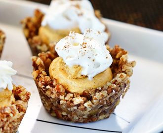 No Bake Pumpkin Cheesecake Pecan Tarts