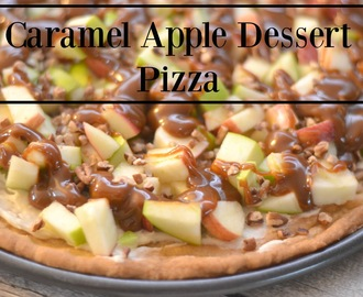 Caramel Apple Dessert Pizza #Recipe