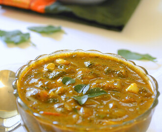 How to make Thuthuvalai Kuzhambu / Spinach Gravy / Healthy Recipes: